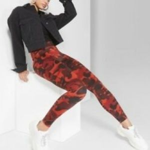 Wild Fable• Red camo print leggings• size Med.